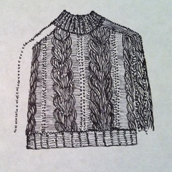 how to draw a realistic sweater